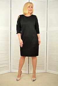 Платье черное трикотаж с напылением - Модель 3.228