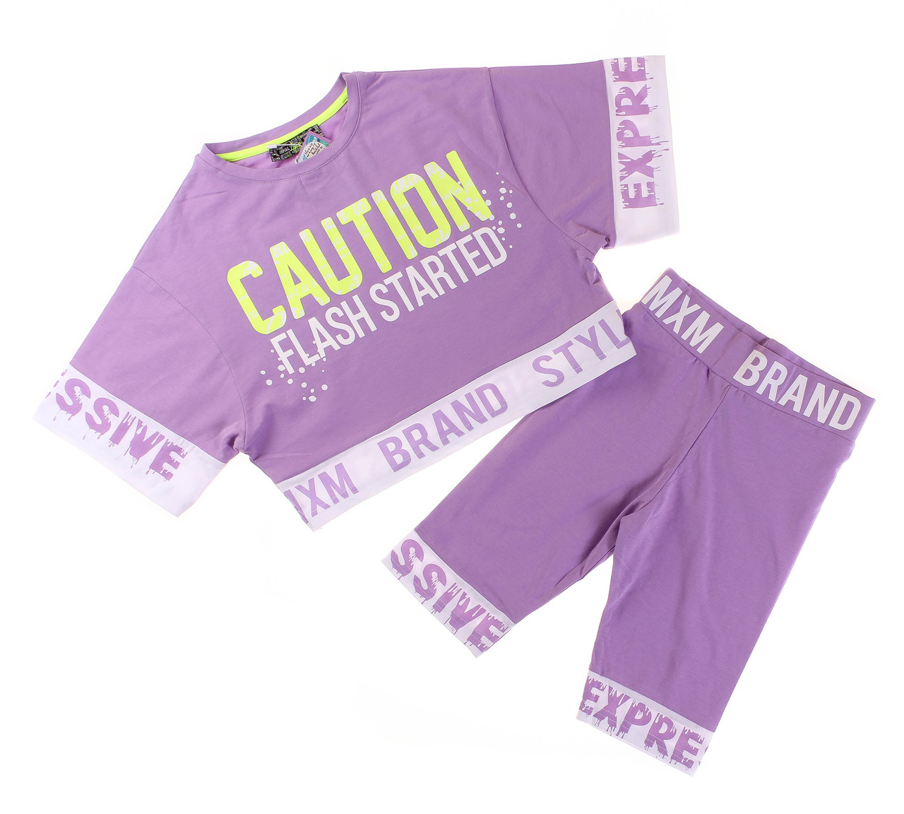 Футболка+шорти для дівчинки A-Yugi 7015 розмір 140