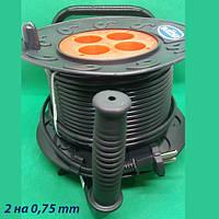 Удлинитель на катушке 40 метров SVITTEX, сечение провода 2х0,75 мм²