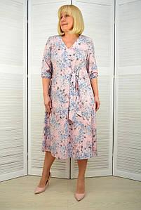 Платье софт розовый - Модель 3.231