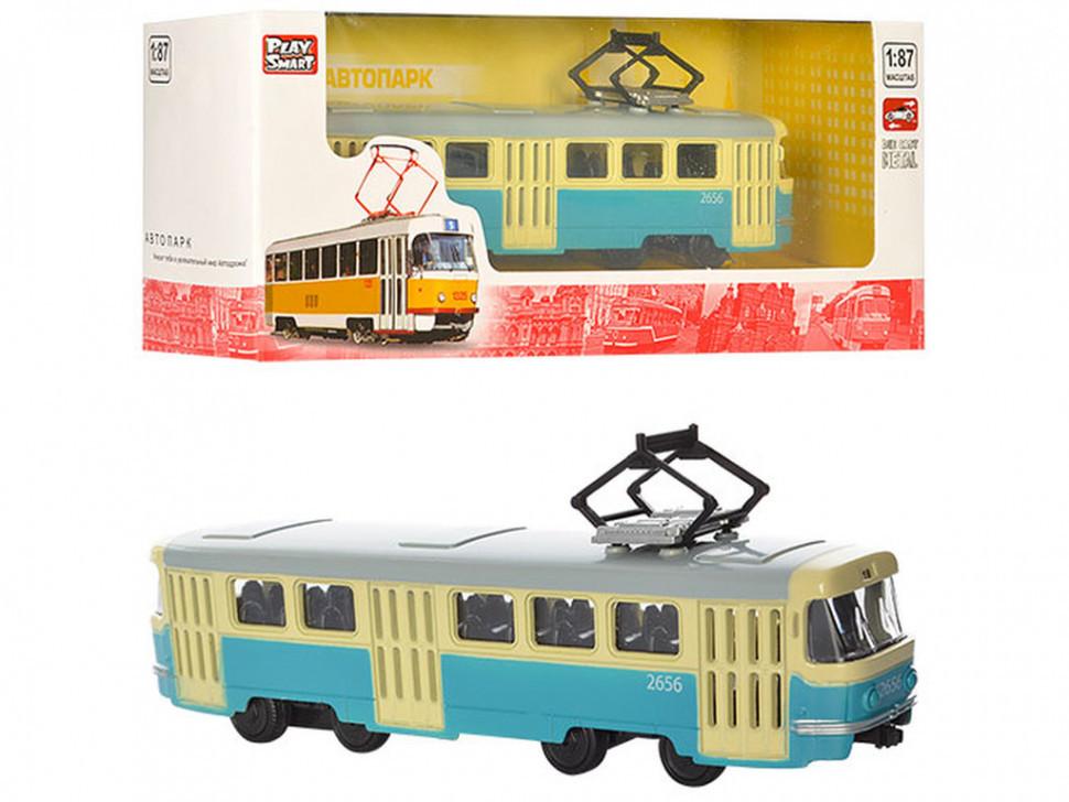 RUS Модель трамвай PLAY SMART 6411 A/B/C/D (6411C)