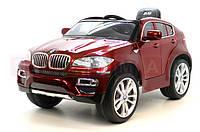 Детский электромобиль BMW X6 сиденье кожа, дитячий електромобіль бмв, электромобиль JJ 258