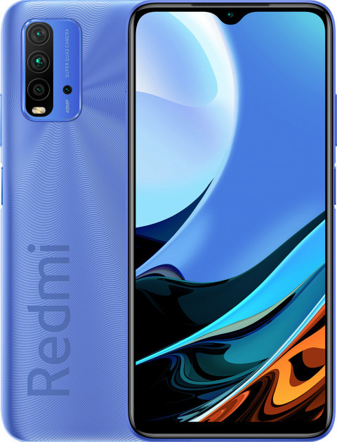 "Xiaomi Redmi 9T 4/64Gb Blue 6.53""4-64Gb, Snapdragon 662, 6000Mah, Стереодинам. Європа"
