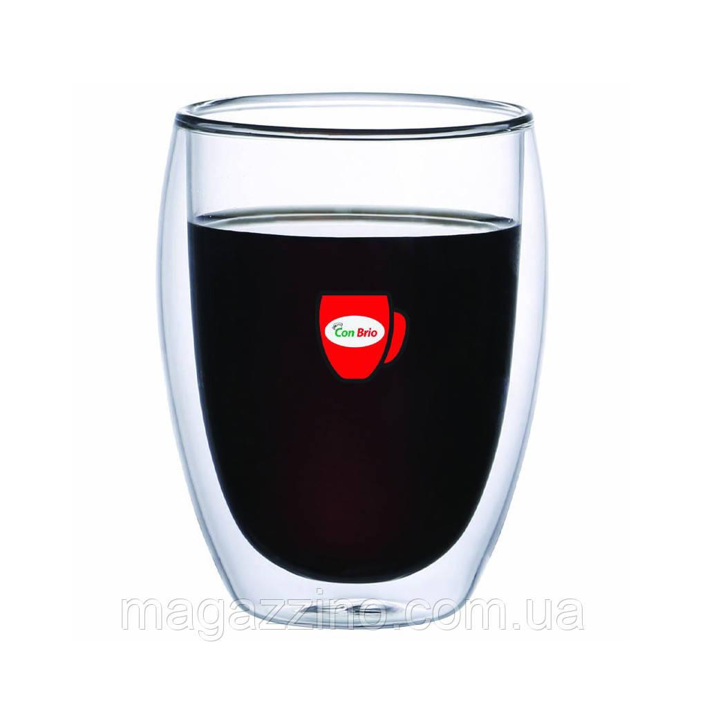 """Скляні стакани з подвійними стінками, """"ConBrio"""", 2шт., 350мл."""