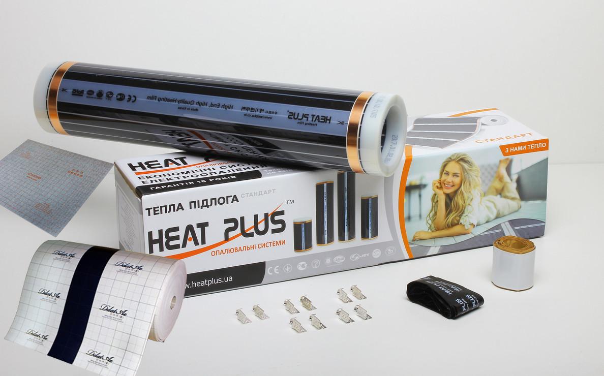 Комплект Теплого пола Heat Plus Standart 10м2 + Теплоизолирующая подложка с заземлением 10м2 (E-pex, 4мм) +