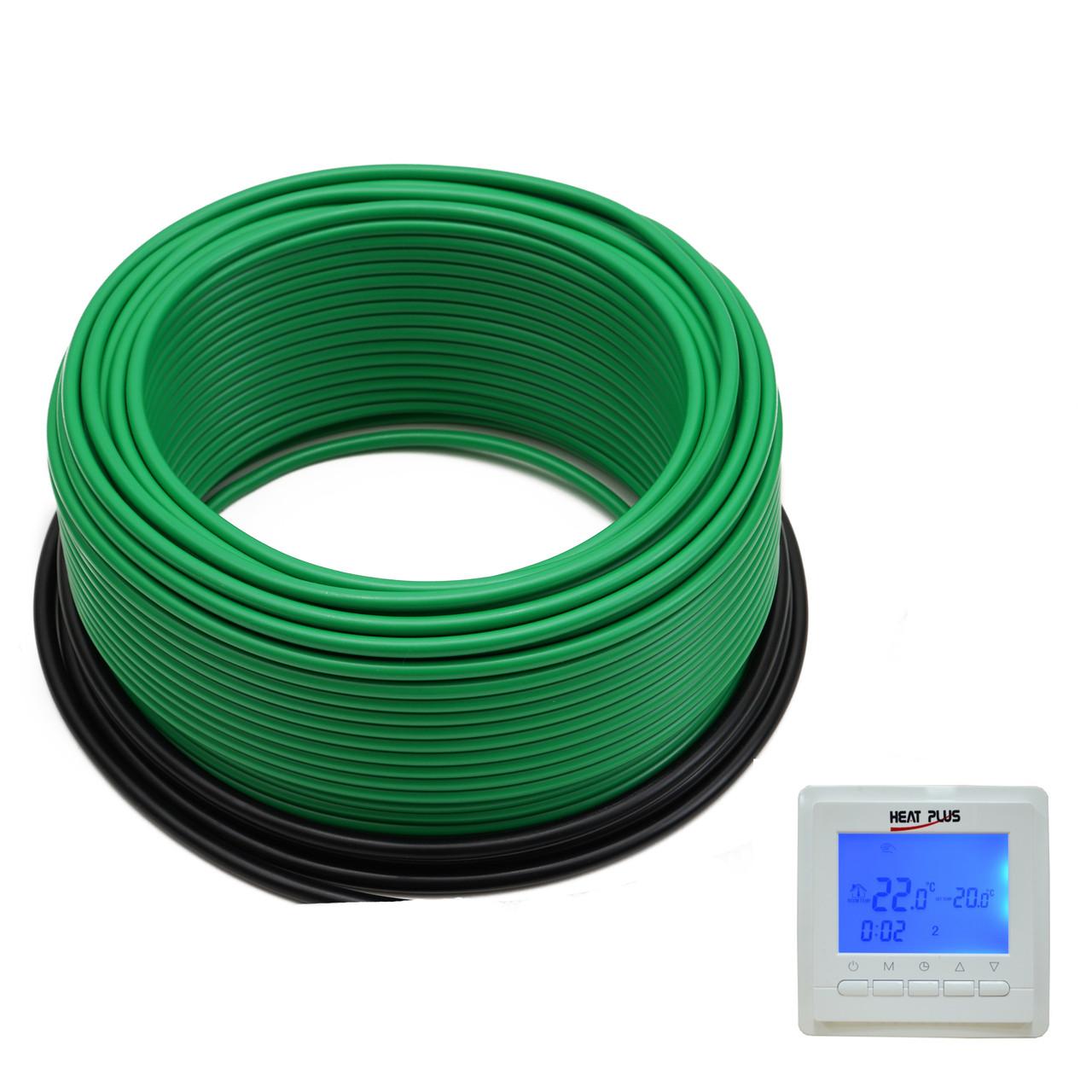 Комплект Нагрівальний кабель ThermoGreen CT20-300W 130м2 + Терморегулятор BHT-306