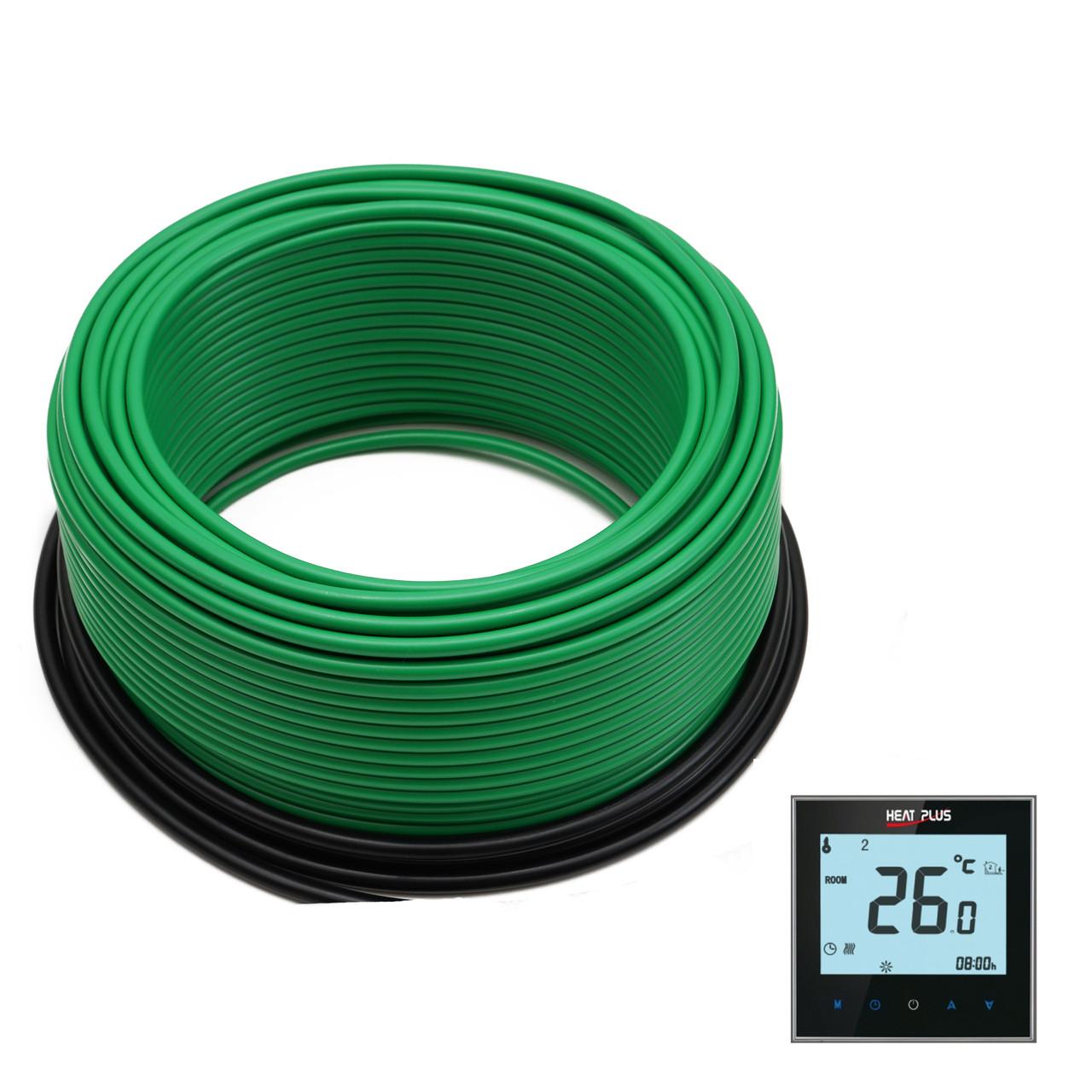 Комплект Нагрівальний кабель ThermoGreen CT20-300W 10м2 + Терморегулятор ITEO 4