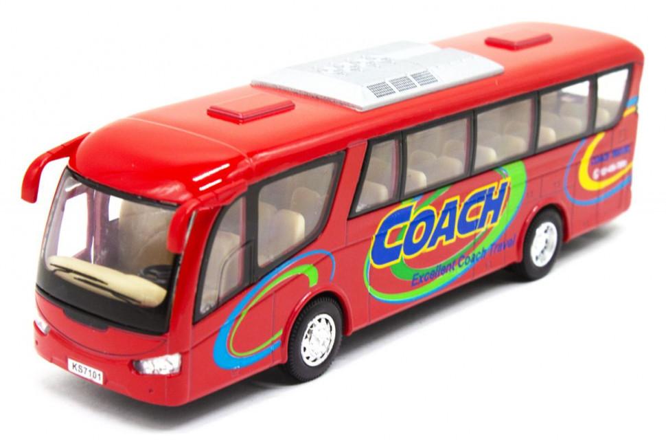 Железная машинка Автобус KS7101 (Красный)