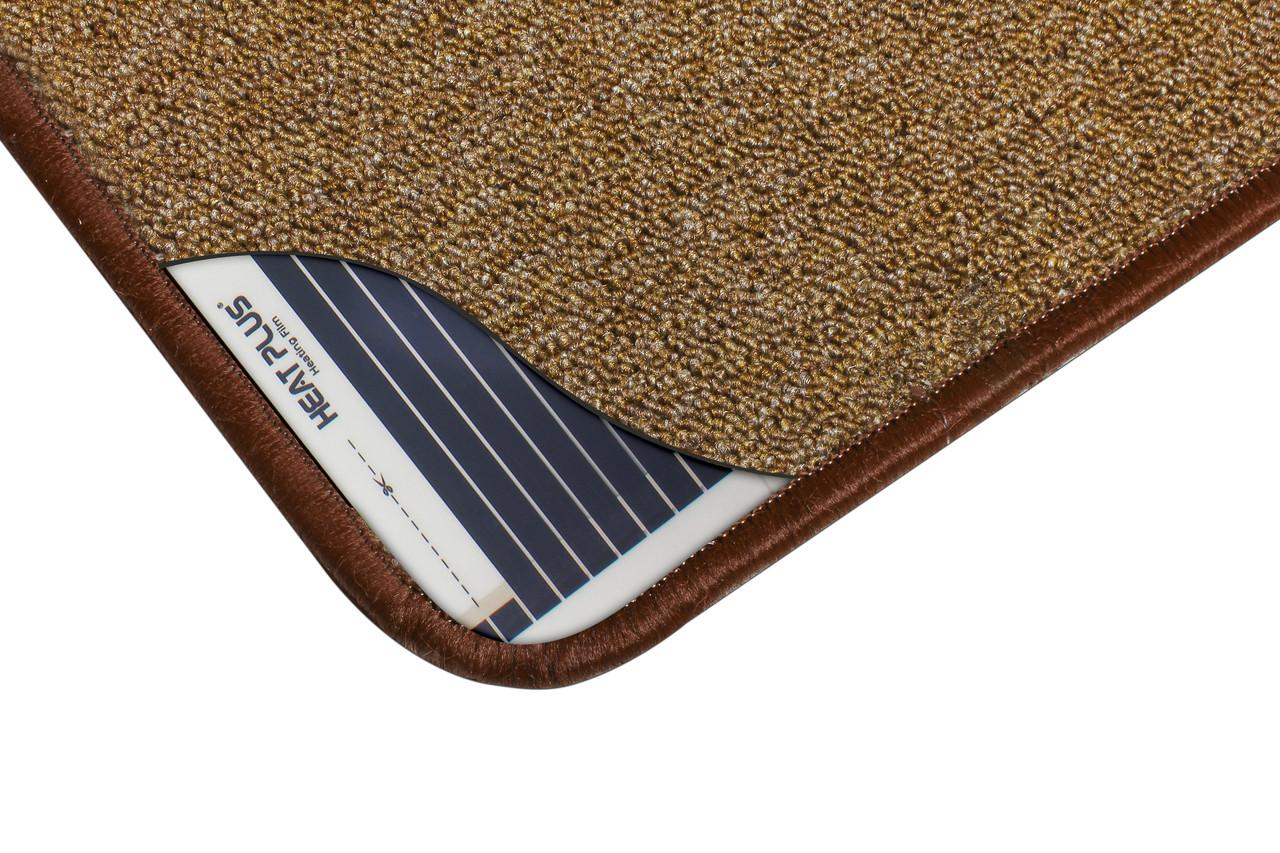 Килимок з підігрівом, Коричневий (теплий килимок) 830*430 мм, 66 Вт