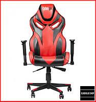 Кресло геймерское Cyber EX (красное) игровое компьютерное кресло с подголовником