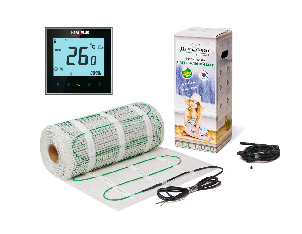 Комплект Кабельний мат ThermoGreen 12м2 + Терморегулятор ITEO 4