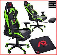 Кресло геймерское Jumi Aragon (зеленое) игровое компьютерное кресло профессиональное