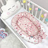 Кокон гнездышко для новорожденных Baby Design Premium Бабочки 90*65 см, фото 3