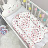 Кокон гнездышко для новорожденных Baby Design Premium Бабочки 90*65 см, фото 6