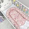 Кокон гнездышко для новорожденных Baby Design Premium Бабочки 90*65 см, фото 7