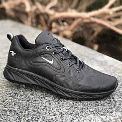 Кросівки чоловічі демісезонні шкіряні чорні весняні NIKE, кросівки чоловічі шкіряні чорні весняні