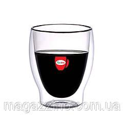 """Набір скляних стаканів з подвійними стінками, """"ConBrio"""", 6шт., 260мл."""