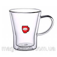 """Набір скляних чашок з подвійними стінками, """"ConBrio"""", 6шт., 350мл."""