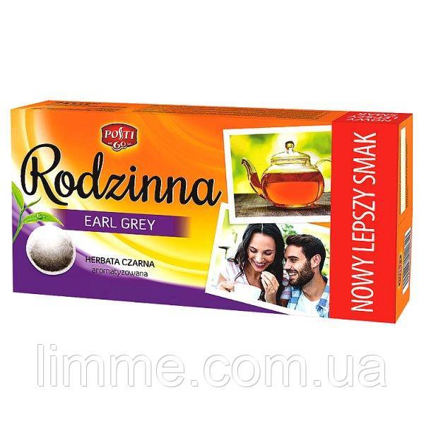 Чай чорний з бергамотом Posti Rodzinna Earl Grey 1 уп / 80 пакетів / 112 г