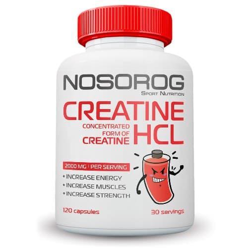 Креатин гидрохлорид Nosorog Creatine HCL 120 капсул (NOS1171)