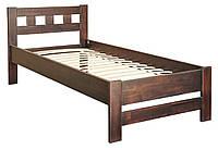Деревянная кровать Верона 90х200 (сосна) + вклад МЕБЕЛЬ СЕРВИС Орех (206х98,6х85 см)