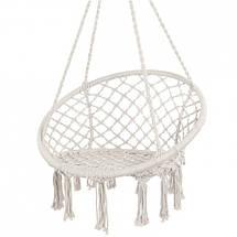 Гамак сидячий подвесная качель плетеное для дачи кресло-качалка гамак, фото 3