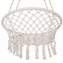 Гамак сидячий подвесная качель плетеное для дачи кресло-качалка гамак, фото 2