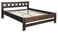 Деревянная кровать Верона 160х200 (сосна) + вклад МЕБЕЛЬ СЕРВИС Орех (206х168,6х85 см)