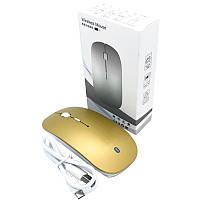 Мышь компьютерная беспроводная Apple на аккумуляторах Golden