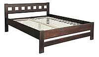 Деревянная кровать Верона 140х200 (сосна) + вклад МЕБЕЛЬ СЕРВИС Орех (206х148,6х85 см)