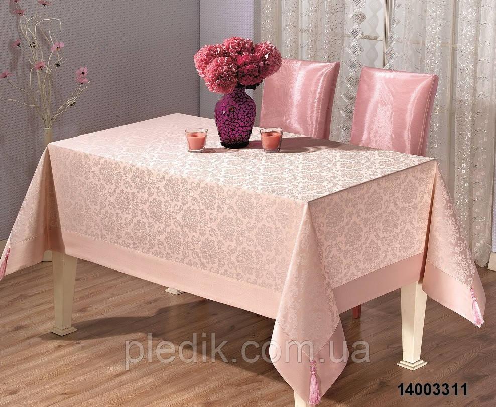 Скатерть 160х220 Tabe розовая PCU95A 2278