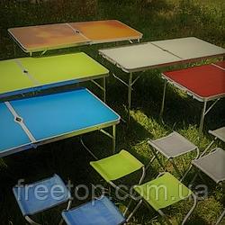Набір меблів для пікніка DT4251 Стіл туристичний розкладний та 4 стільця