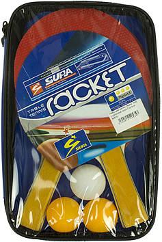 """Набір для настіл. тенісу """"Xite"""": 2 ракетки,в чохлі,3 кульки №814"""