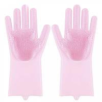 Багатофункціональні господарські силіконові рукавички, колір в асортименті