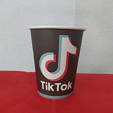 Набір паперових стаканів принт Tik Tok 250мл 5шт.