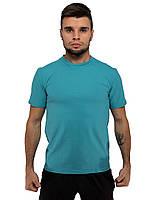 Футболка DNK MAFIA бирюзовая мужская хлопковая летняя футболка