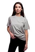 Футболка DNK MAFIA серая хлопковая летняя футболка