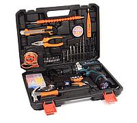 Аккумуляторная дрель-шуруповерт Bosch TSR18-2LI и набор инструментов в кейсе Шуруповерт Бош