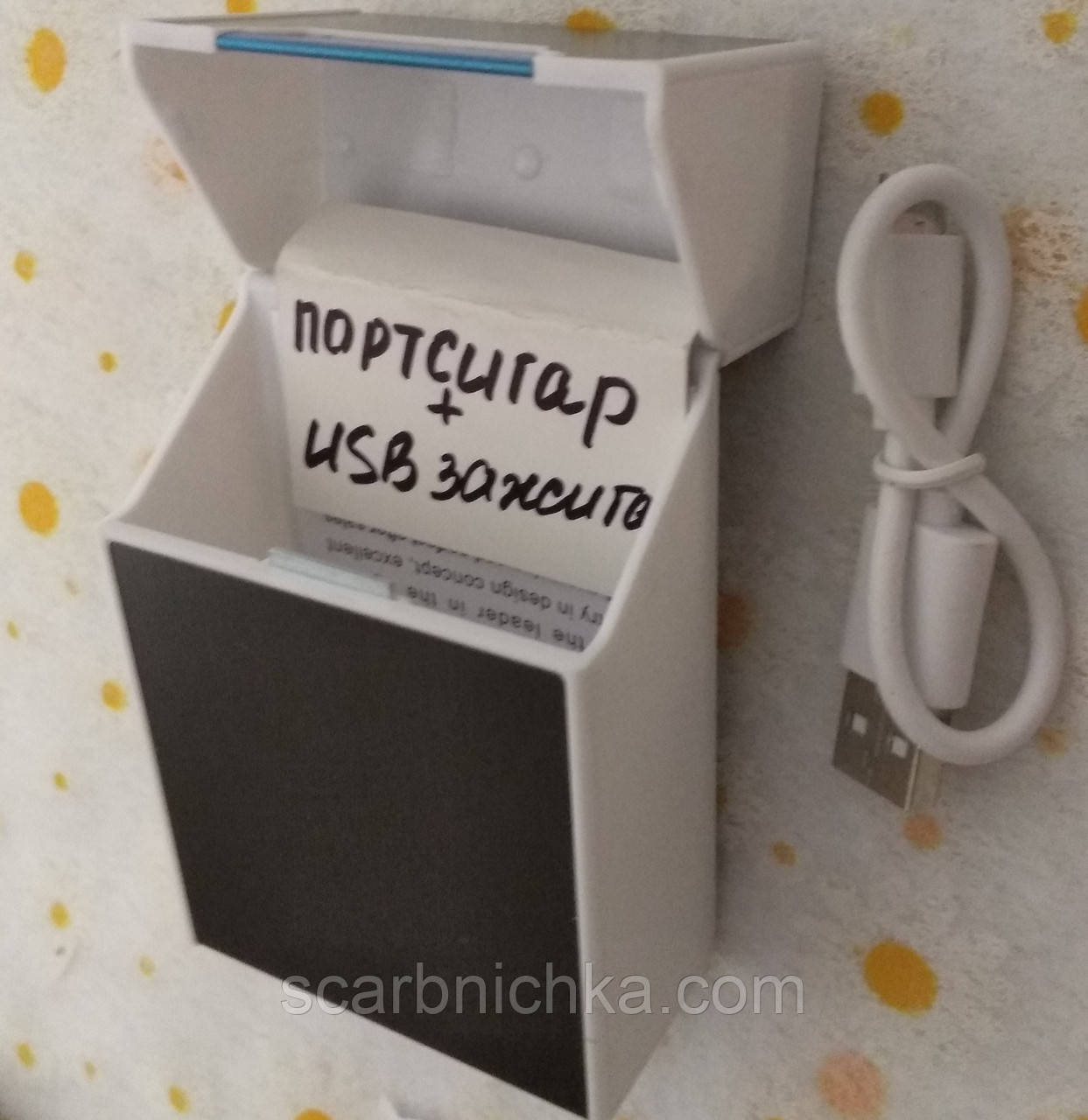 Запальничка USB з боксом під цигарки