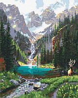 Картина по номерам Горная долина, 40*50 см, Brushme