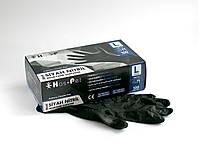 Перчатки нитриловые неопудренные Has-Pet Black S 100 шт (50 пар) черные