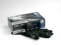 Перчатки нитриловые неопудренные Has-Pet Black M 100 шт (50 пар) черные