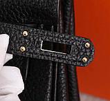 Сумка женская Эрмес  28, 32 см, натуральная кожа, фото 6