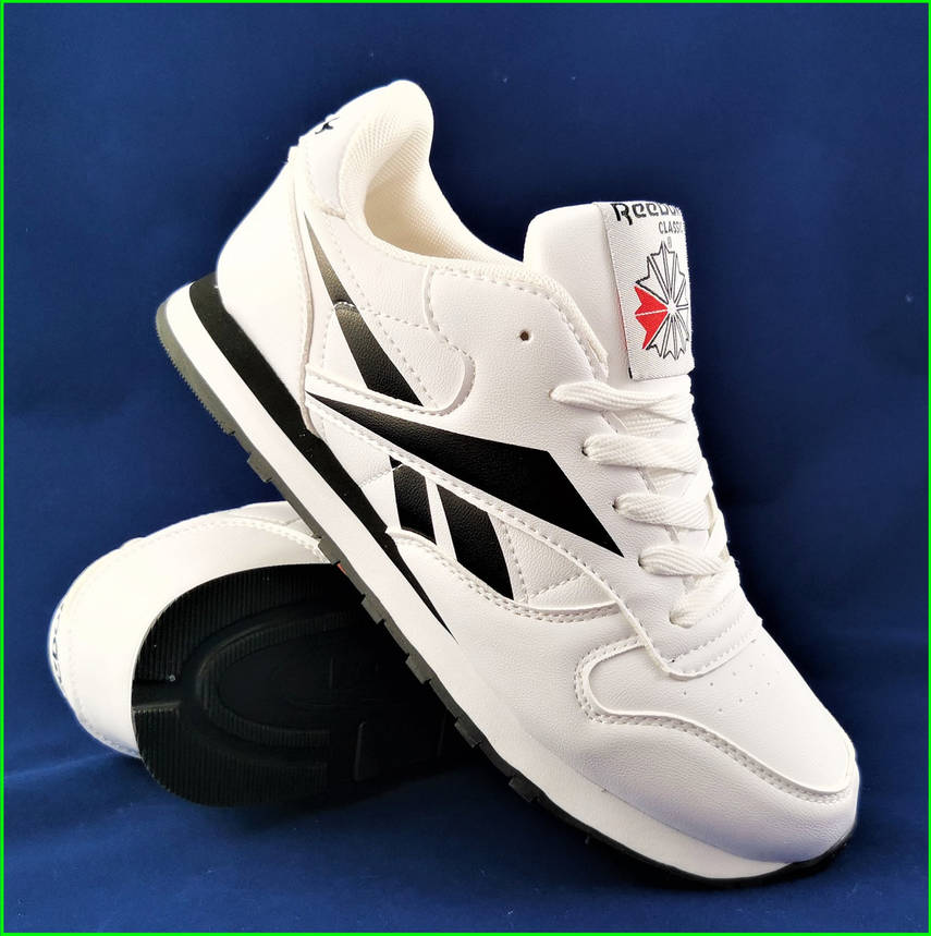 Чоловічі Кросівки Reebok Classic Білі Рібок (розміри: 41,42,43,44,45,46) Відео Огляд, фото 2