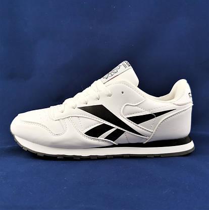 Чоловічі Кросівки Reebok Classic Білі Рібок (розміри: 41,42,43,44,45,46) Відео Огляд, фото 3
