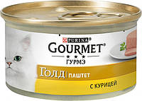 Вологий корм для кішок Purina Gourmet Gold Паштет з куркою 85 г (7613031381494)