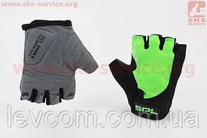 Рукавички без пальців XS чорно-салатові, з гелевими вставками під долоню SBG-1457