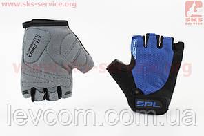 Рукавички без пальців XS чорно-сині, з гелевими вставками під долоню SBG-1457
