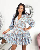 Платье женское 656 (42-44; 46-48) (цвета: чёрный , голубой, бежевый) СП, фото 1