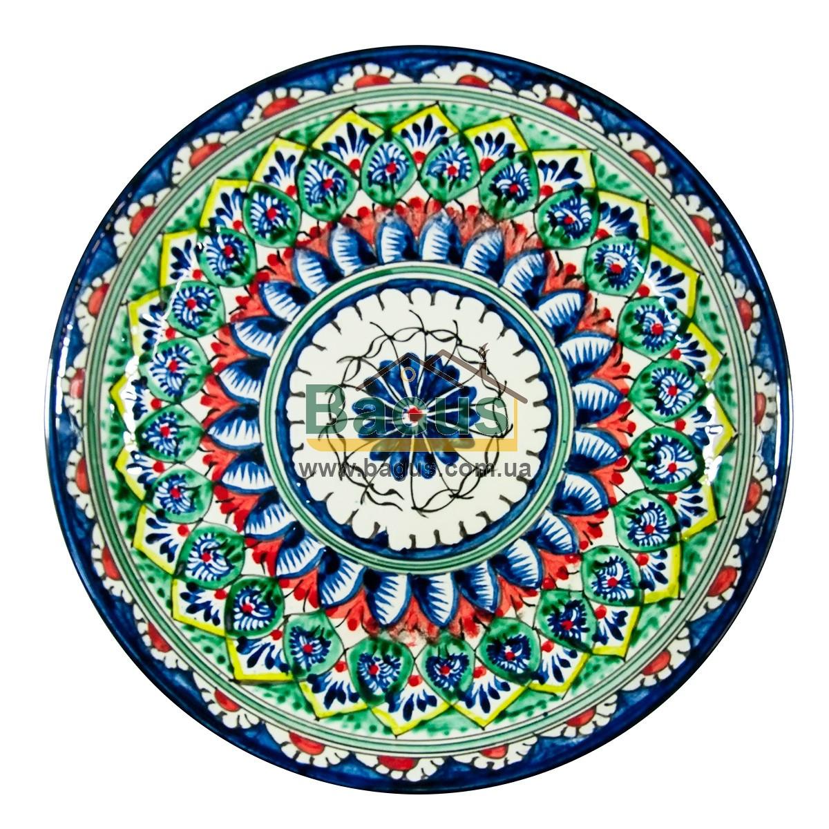 Ляган узбекский (тарелка узбекская) диаметр 25см ручная работа 2504-02